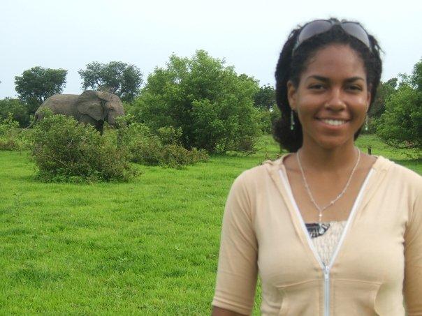 me and elephant